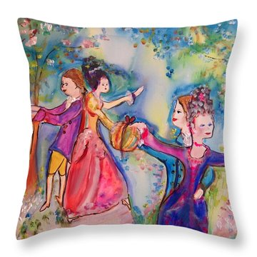 Delightful Company  Throw Pillow