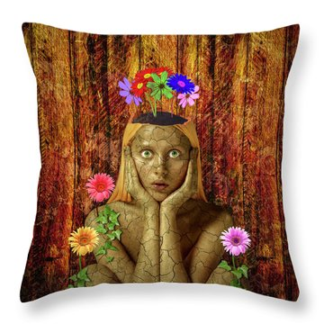 Delightful Throw Pillow by Scott Meyer