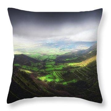 Delika Canyon Throw Pillow