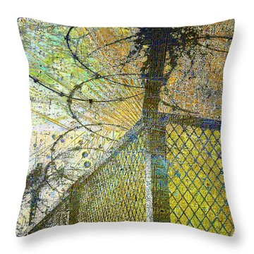 Throw Pillow featuring the mixed media Deliverance by Tony Rubino