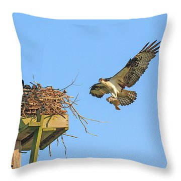 Delivering Breakfast Throw Pillow