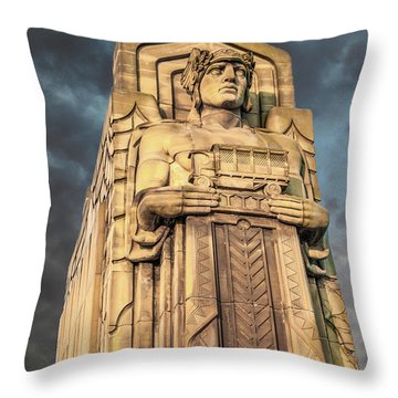 Delivery Truck Guardian Throw Pillow