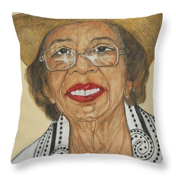 Della Willis Portrait Throw Pillow