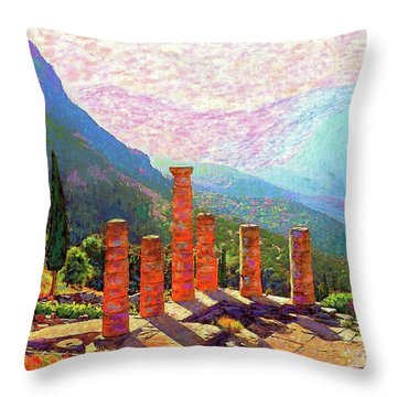 Delphi Magic Throw Pillow