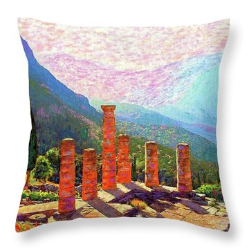 Delphi Magic Throw Pillow by Jane Small