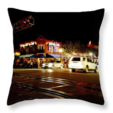 Delray Beach Railroad Crossing Throw Pillow