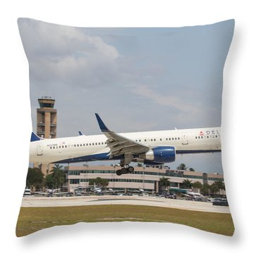 Delta Airline Throw Pillow