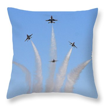 Delta Burst Throw Pillow