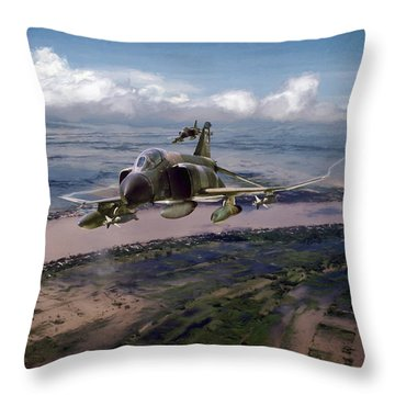 Throw Pillow featuring the digital art Delta Deliverance by Peter Chilelli