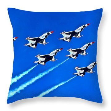 Delta Formation Throw Pillow