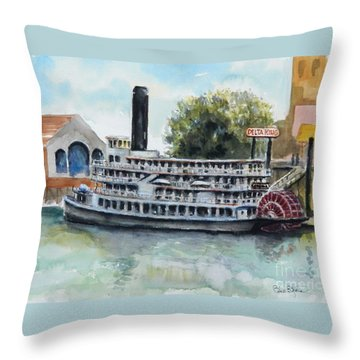Delta King Throw Pillow