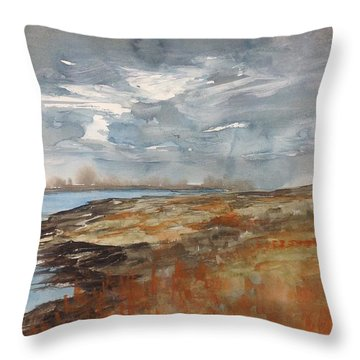 Delta Marsh - Fall Throw Pillow