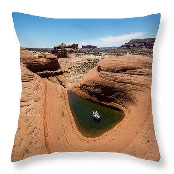 Delta Pool 2 Throw Pillow