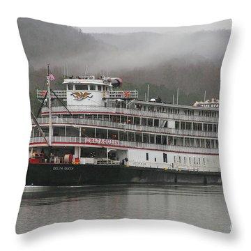 Delta Queen Throw Pillow by Geraldine DeBoer