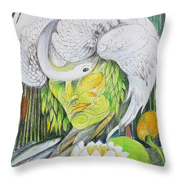 Delta-strength Trought Fragility-danube Delta 2 Throw Pillow