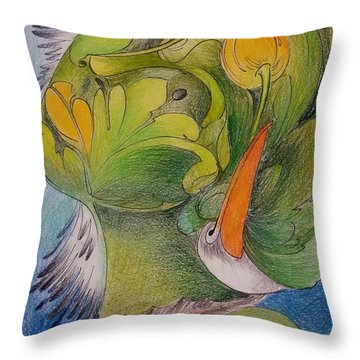 Delta-strength Trought Fragility-danube Delta 4 Throw Pillow