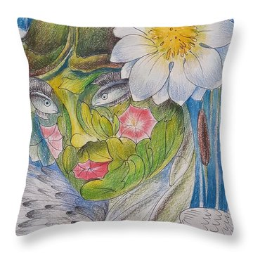 Delta-strength Trought Fragility-danube Delta 5 Throw Pillow