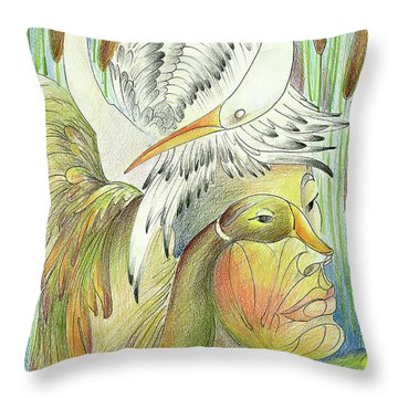 Delta-strength Trought Fragility,danube Delta 3 Throw Pillow