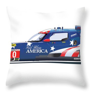 Deltawing Le Mans Racer Illustration Throw Pillow