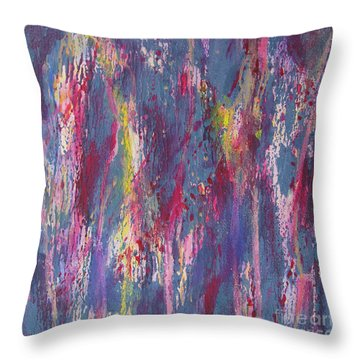 Throw Pillow featuring the painting Delve Deep 2 by Mini Arora