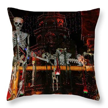 Dem Bones Throw Pillow