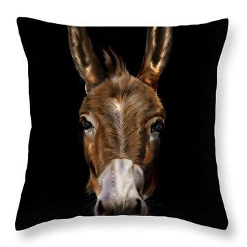 Dem-donkey Throw Pillow by Reggie Duffie