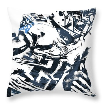 Throw Pillow featuring the mixed media Demarco Murray Tennessee Titans Pixel Art 2 by Joe Hamilton