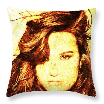 Demi Lovato Throw Pillow