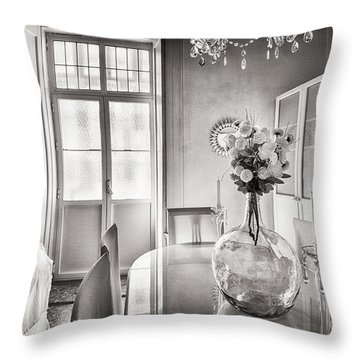 Throw Pillow featuring the photograph Demijohn And Window Cadiz Spain by Pablo Avanzini