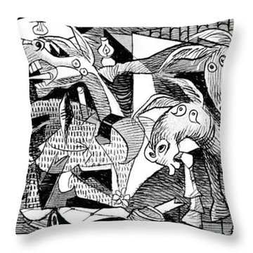 Democrat Guernica Throw Pillow