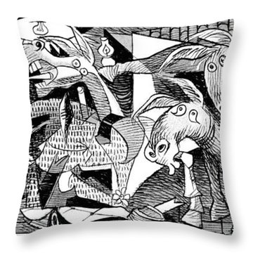 Democrat Guernica Throw Pillow