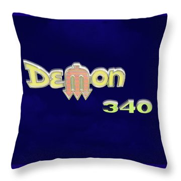 Throw Pillow featuring the photograph Demon 340 Emblem by Mike McGlothlen