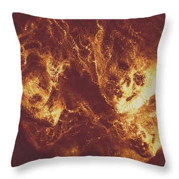 Red Skull Throw Pillows