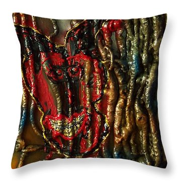 Demon Inside Throw Pillow by Lisa Piper