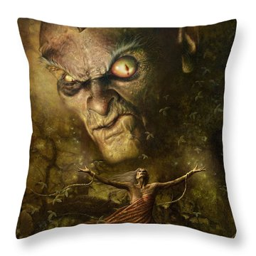 Demonic Evocation Throw Pillow