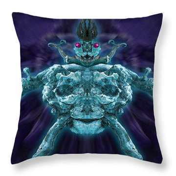 Throw Pillow featuring the photograph Demonwood 2 by WB Johnston