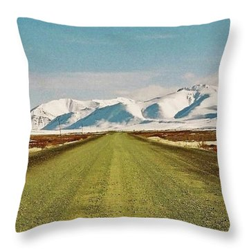 Dempster Highway - Yukon Throw Pillow by Juergen Weiss
