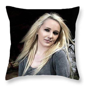 Demure Throw Pillow