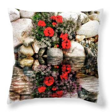 Denali National Park Flowers Throw Pillow