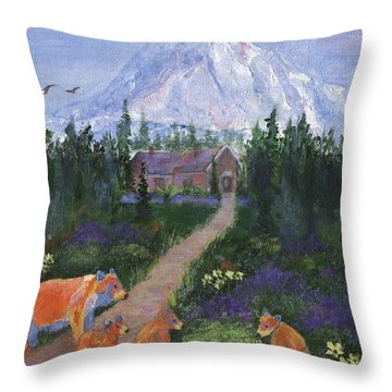 Throw Pillow featuring the painting Denali by Jamie Frier