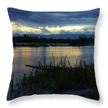 Denali Midnight Sunset Throw Pillow