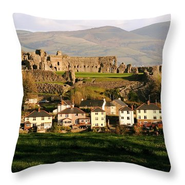 Denbigh Castle Throw Pillow