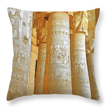 Dendera Temple Throw Pillow by Nigel Fletcher-Jones