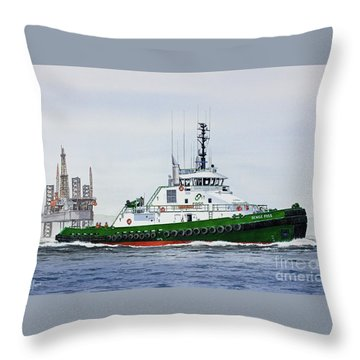 Throw Pillow featuring the painting Denise Foss by James Williamson