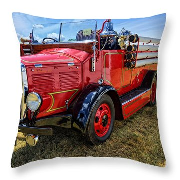 Dennis Fire Engine Throw Pillow