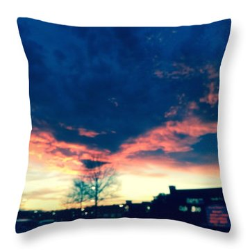 Dense Sunset Throw Pillow