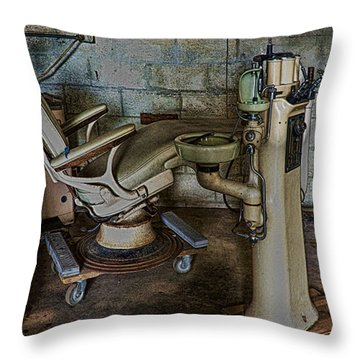 Dental Fright Throw Pillow by Don Durfee