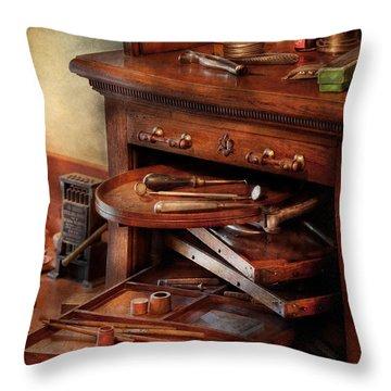 Dentist - Lab - Dental Laboratory  Throw Pillow by Mike Savad
