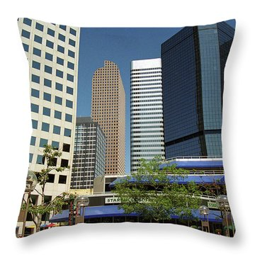 Throw Pillow featuring the photograph Denver Architecture by Frank Romeo