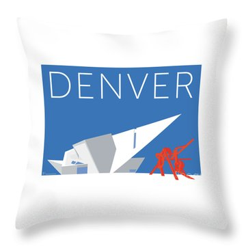 Denver Art Museum/blue Throw Pillow